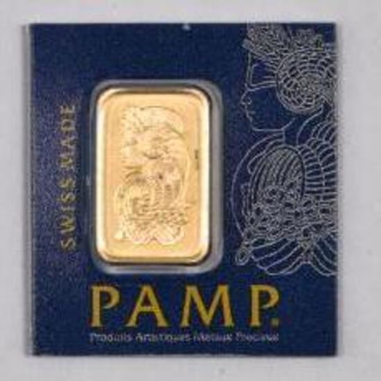 PAMP Suisse 1 Gram 999.9 Gold Ingot/Bar.