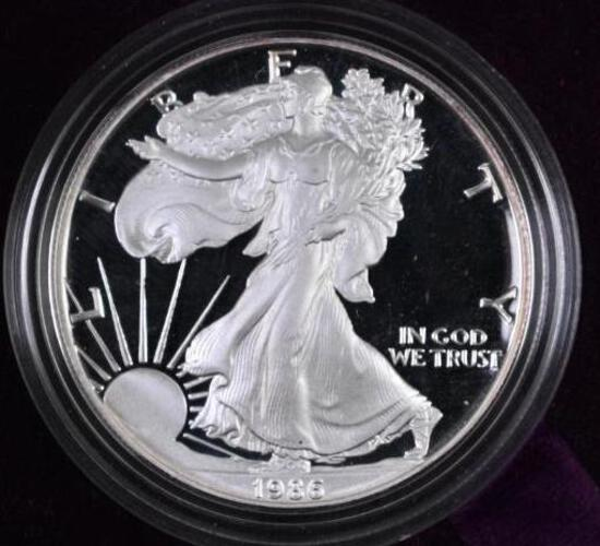 1986 S American Silver Eagle Proof.