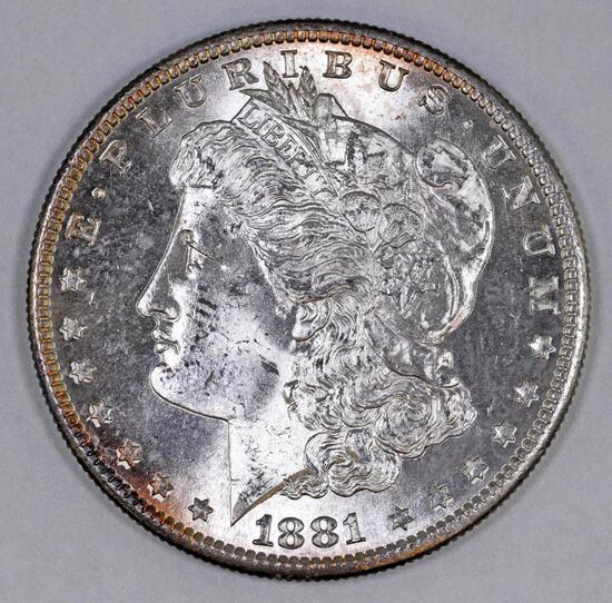 1881 S Morgan Silver Dollar.