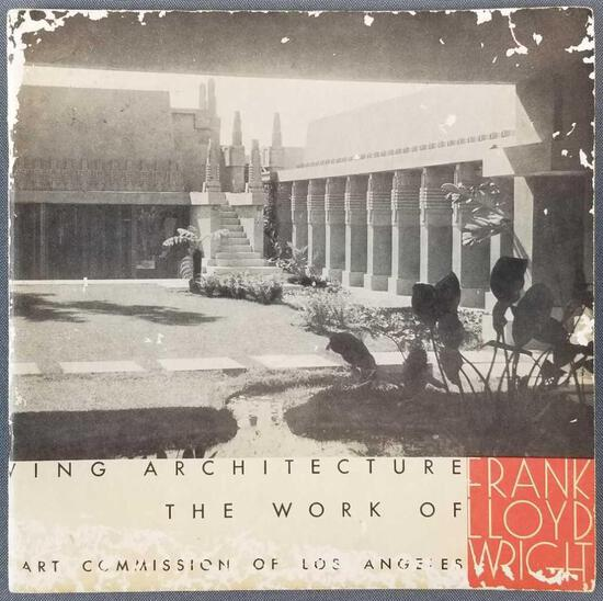 Signed copy 60 Years of Living Architecture Frank Lloyd Wright