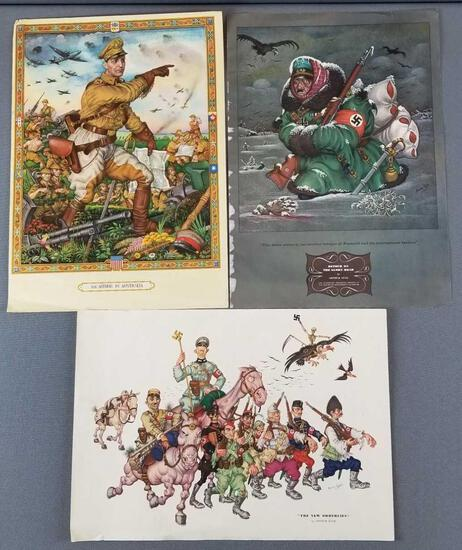 WW2 Nazi German artwork by Arthur Szyk
