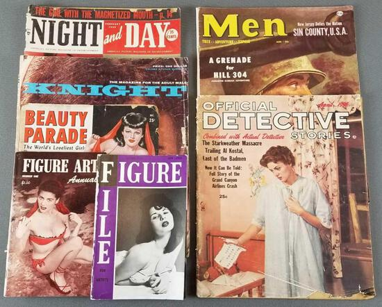 Group of 7 vintage magazines