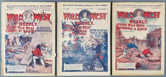 Group of 3 Wild West Weekly publications
