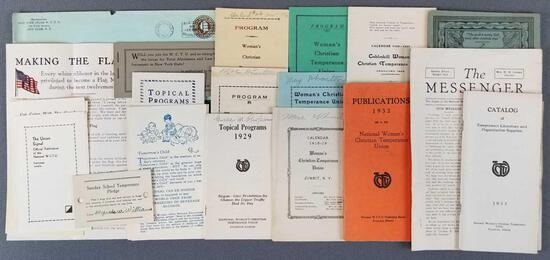 Group of Womens Christian Temperance Union items