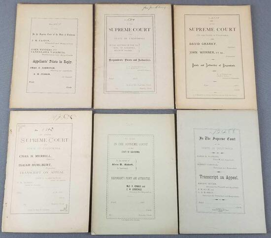 Group of 6 antique California Supreme court decisions