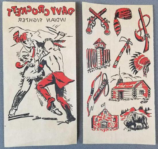 Vintage Davy Crockett transfer decals