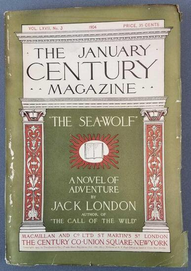 Antique January Century Magazine The Sea Wolf