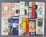 Group of vintage state and city road maps