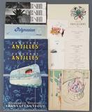 Group of vintage steamship menus and more