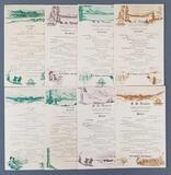 Group of 8 vintage Alaska Line cruise menus