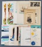Group of vintage steamship menus, programs and more