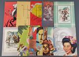 Group of 12 vintage menus