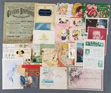 Group of vintage cards, music, catalog and more