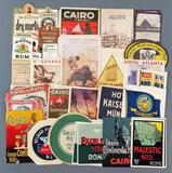 Group of vintage labels