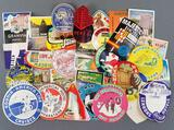 Group of vintage travel labels/decals