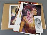 Group of 4 erotic art prints