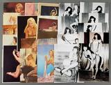 Group of vintage pinup and nude prints, Bettie Page photos