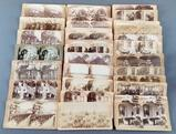 Group of antique President McKinley stereoscope viewer cards