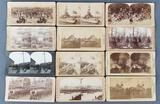Group of 12 antique stereoscope viewer cards