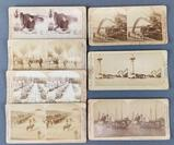Group of 7 antique stereoscope viewer cards