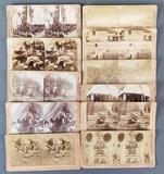 Group of 11 antique stereoscope viewer cards