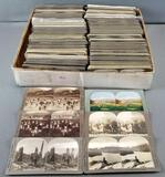 Group of antique stereoscope viewer cards