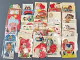 Large group of vintage Valentine and pop up cards and more