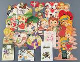 Group of antique Valentines and other cards