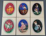Group of 6 Marcel Le Boulte pinup lithographs