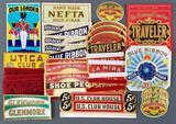 Group of vintage cigar labels