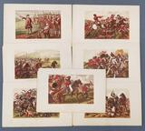 Group of 7 antique military etchings