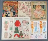 Group of vintage childrens books, paper dolls and more