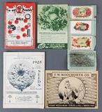 Group of vintage catalogs, salesman sample cards