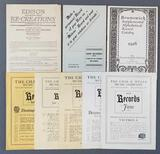 Group of vintage music catalogs, and recording pamphlets
