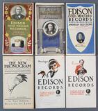 Group of antique Edison records catalogs