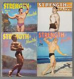 Group of 4 vintage Strength & Health magazines