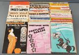 Group of vintage sheet music