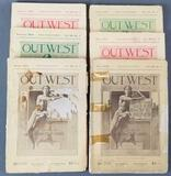 Group of 6 antique Out West magazines