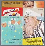 Group of 6 vintage football game programs/magazine
