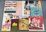Group of vintage programs, posters, press releases and more