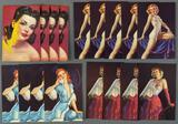 Group of 17 vintage pinup lithographs