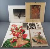 Group of calendars, prints