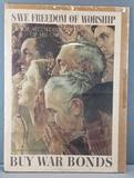 Vintage Norman Rockwell War Bonds poster