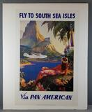 Vintage Pan American reproduction poster