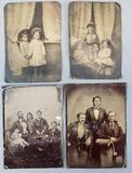 Group of 4 antique tintypes