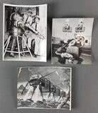 Group of 3 photographs of robots