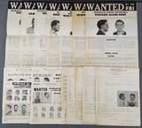 Group of 16 vintage Wanted Posters