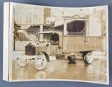Vintage sepia photograph Rubsam & Horrmann brewing co truck