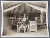 Vintage Joe Doakes liquor shop photograph