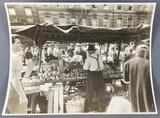 Vintage photograph NYC pushcart market